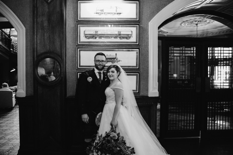Glasgow Grand Central Hotel Summer Wedding Photos