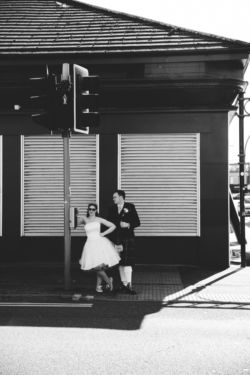 Glasgow City Centre Rock the Attire Wedding Photographs