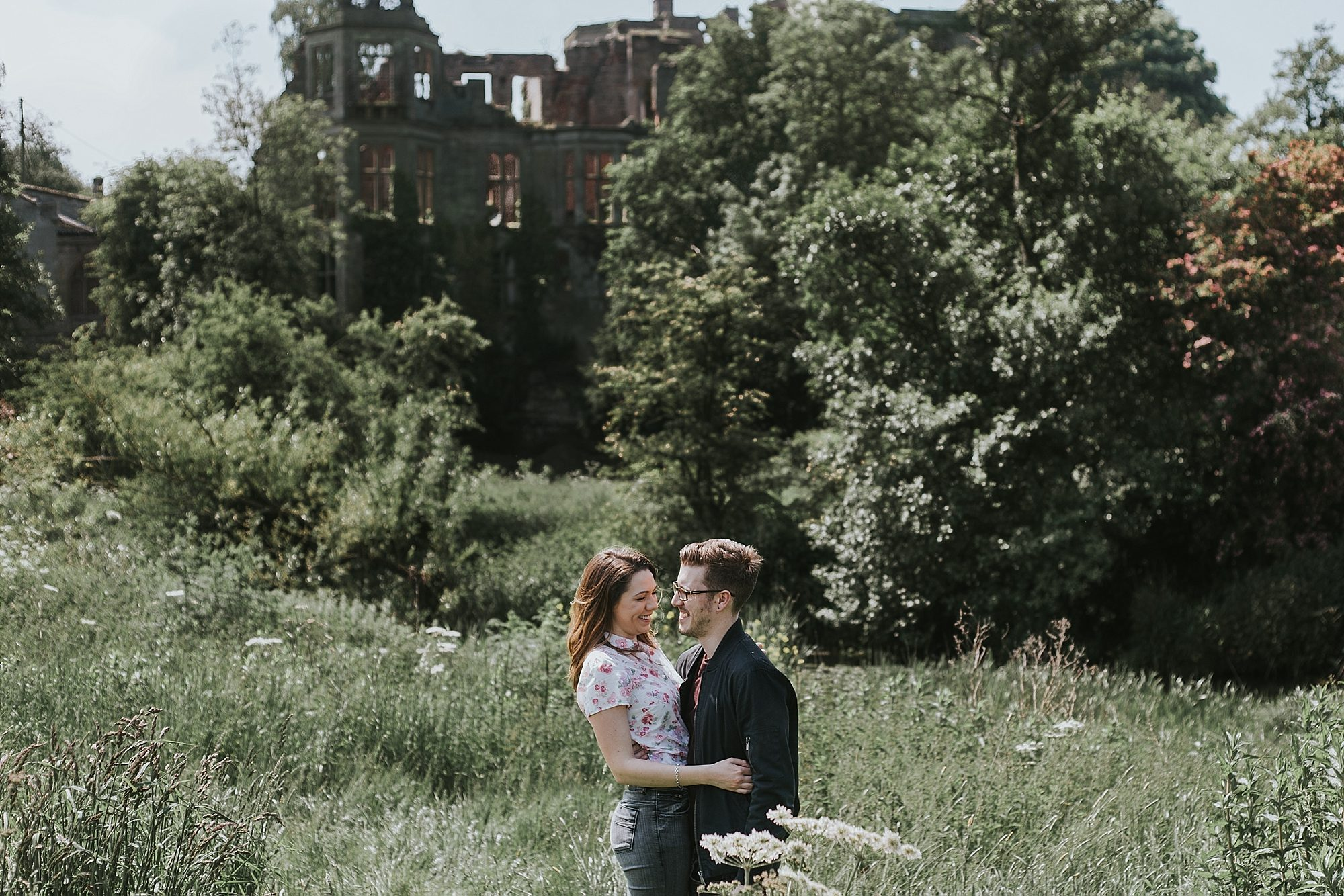 Summer Engagement Pre Wedding Photos at Saxon Mill Warwick with dog_15.jpg