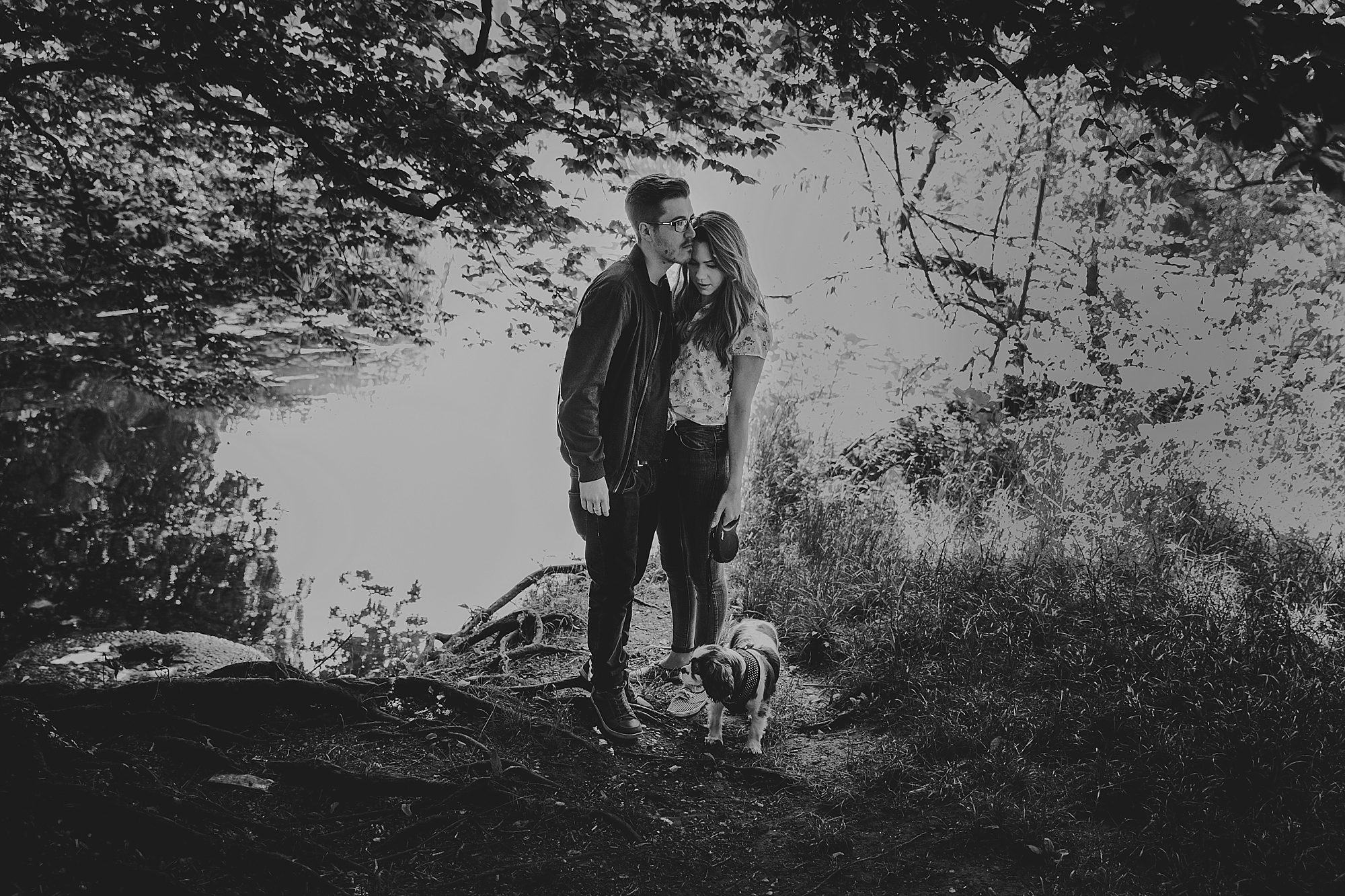 Summer Engagement Pre Wedding Photos at Saxon Mill Warwick with dog_32.jpg
