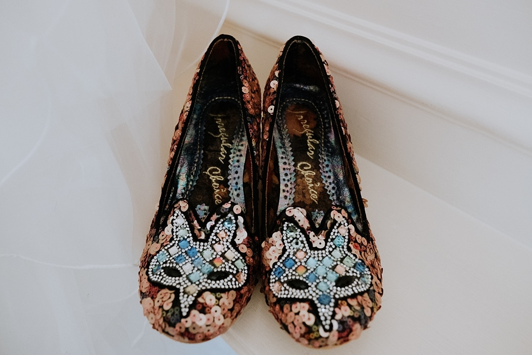 Irregular choice cat wedding shoes