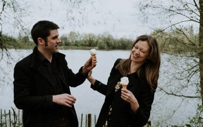 Spring Ryton Pools Coventry Engagement Shoot | Michelle & Matt