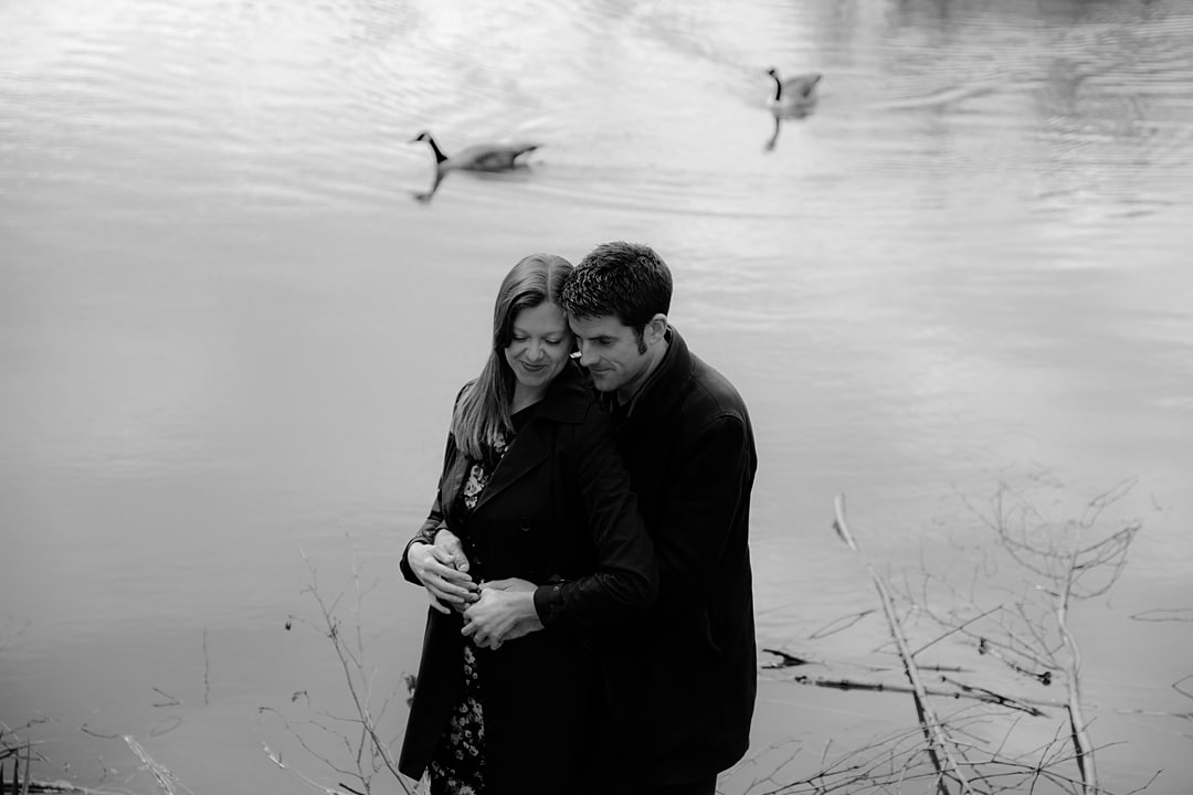 couple photoshoot engagement session at Ryton Pools Coventry