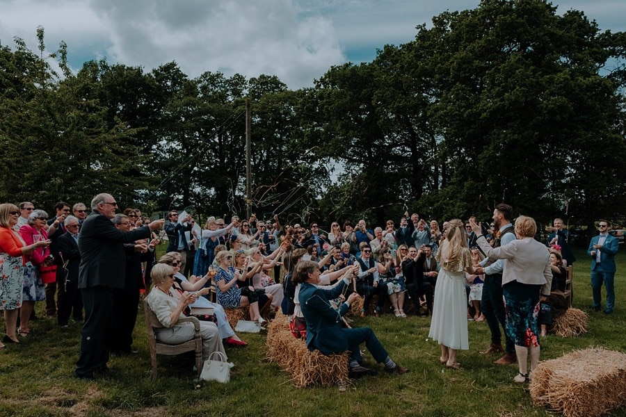 Park Farm Daventry Wedding Photography with outdoor ceremony & Pizza