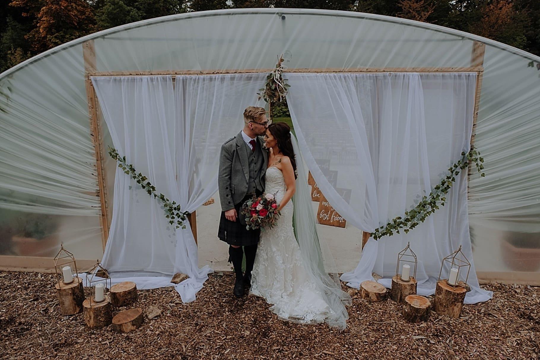 Colstoun House Polytunnel wedding