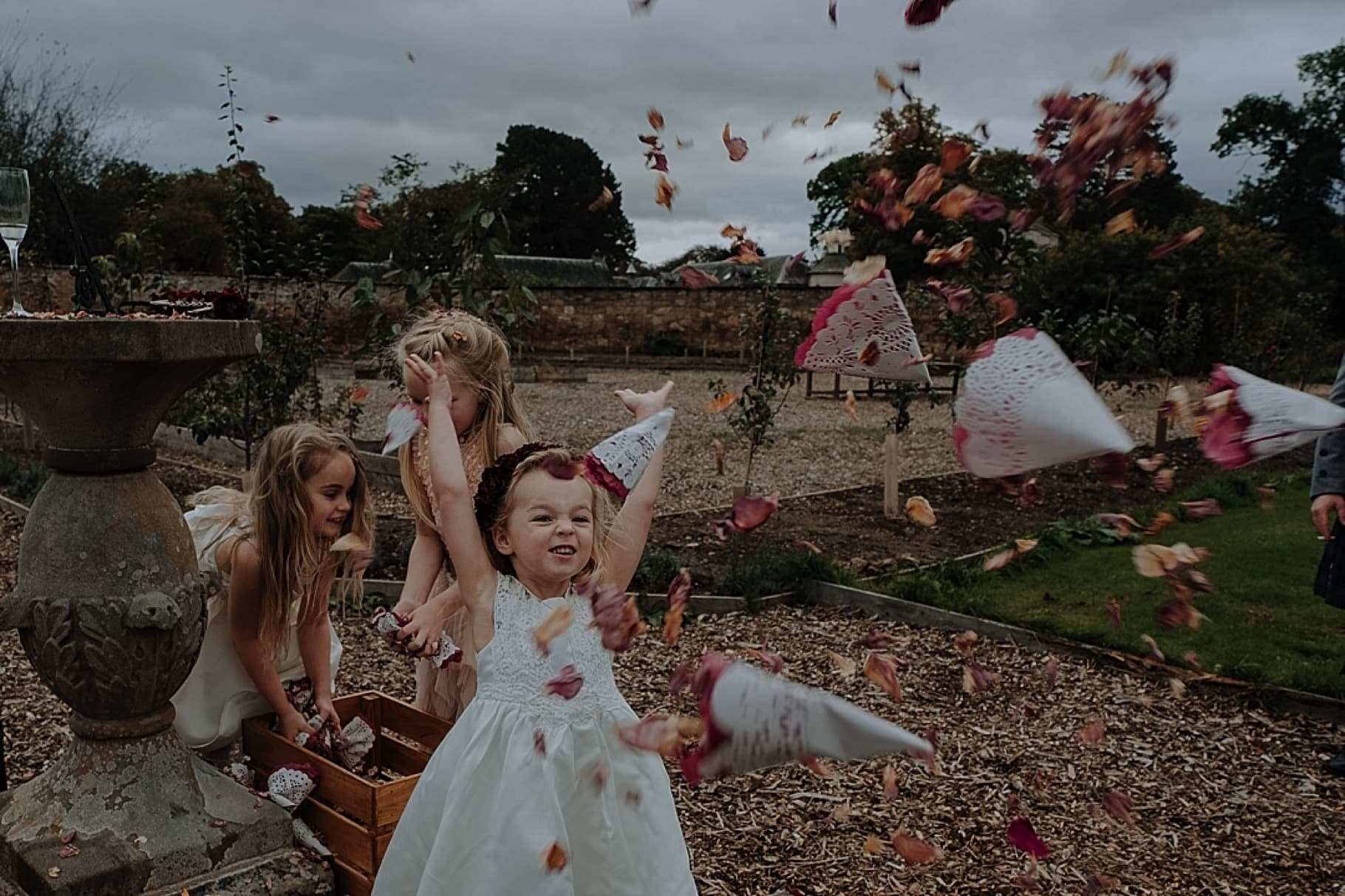 award winning confetti wedding photo