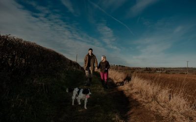 Northamptonshire Engagement Photography: Winter Farm Couples Session | Eva & James
