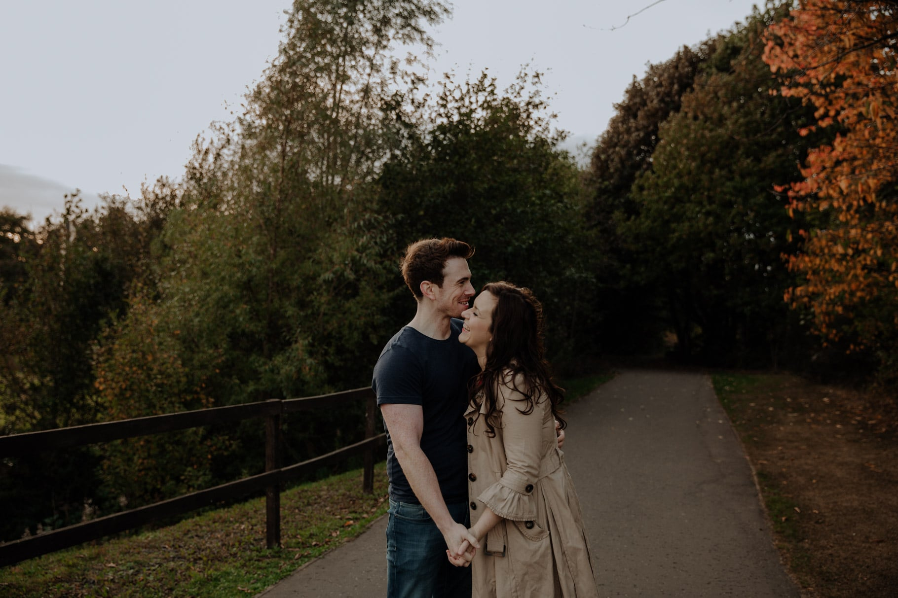 autumnal engagement session