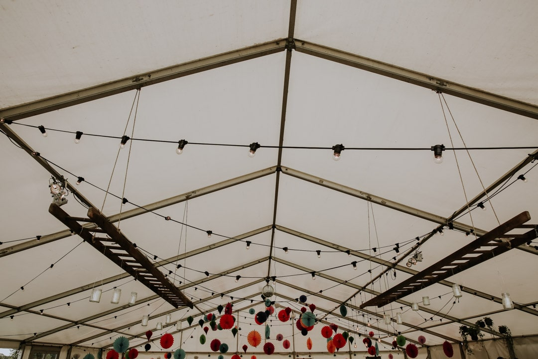 leicestershire-diy-marquee-wedding-hanging-paper-decorations