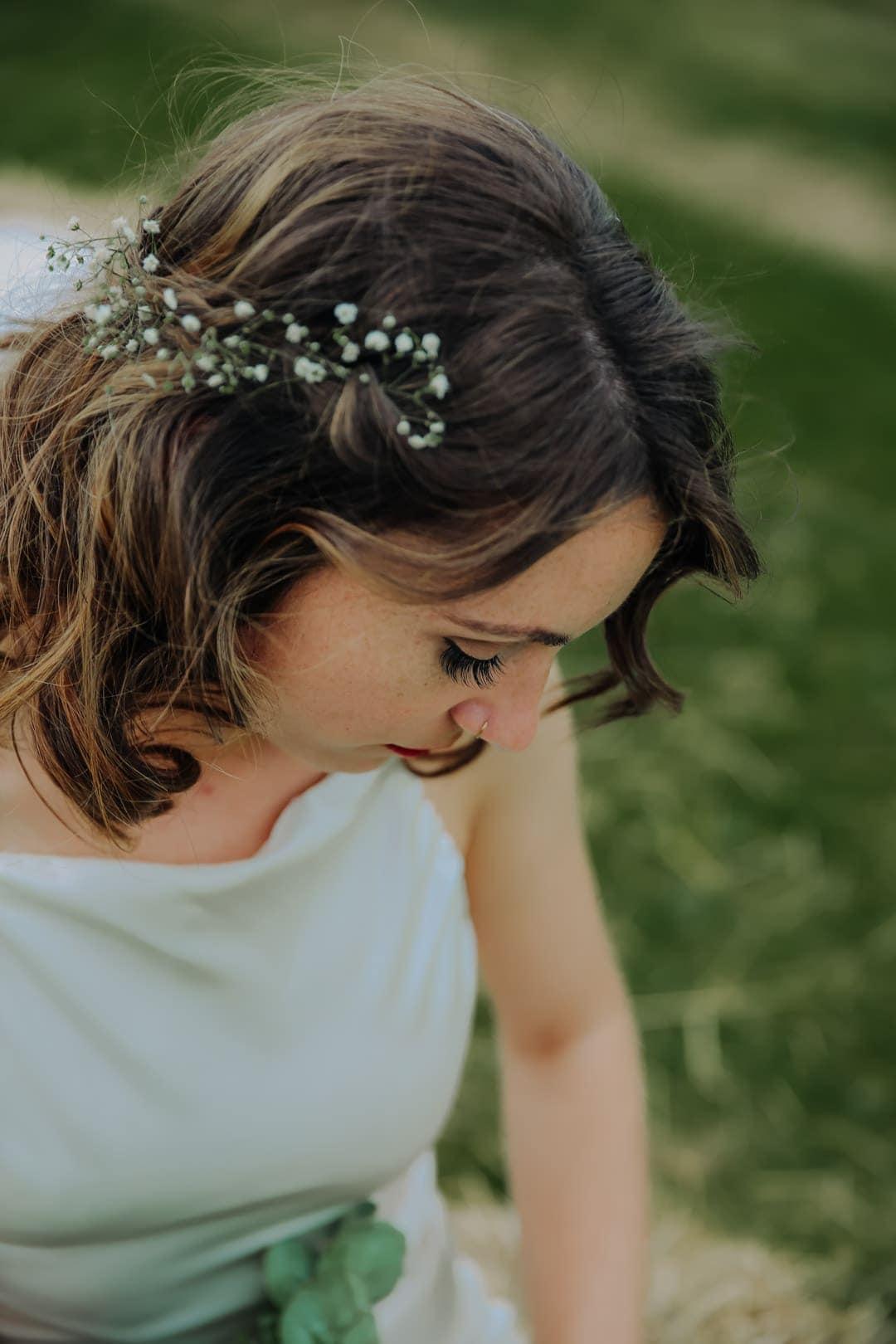 bridal-portrait-flower-crown-satin-wedding-dress