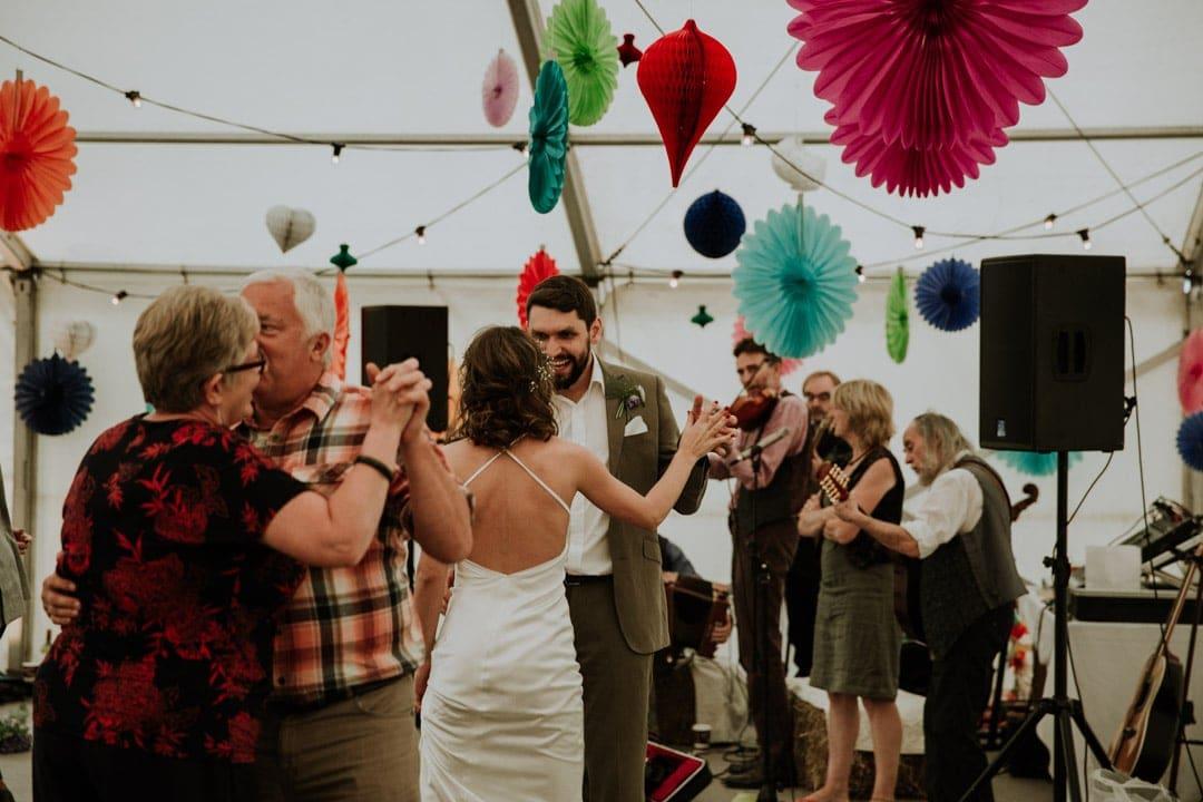 wedding-dance-floor-hanging-paper-decorations