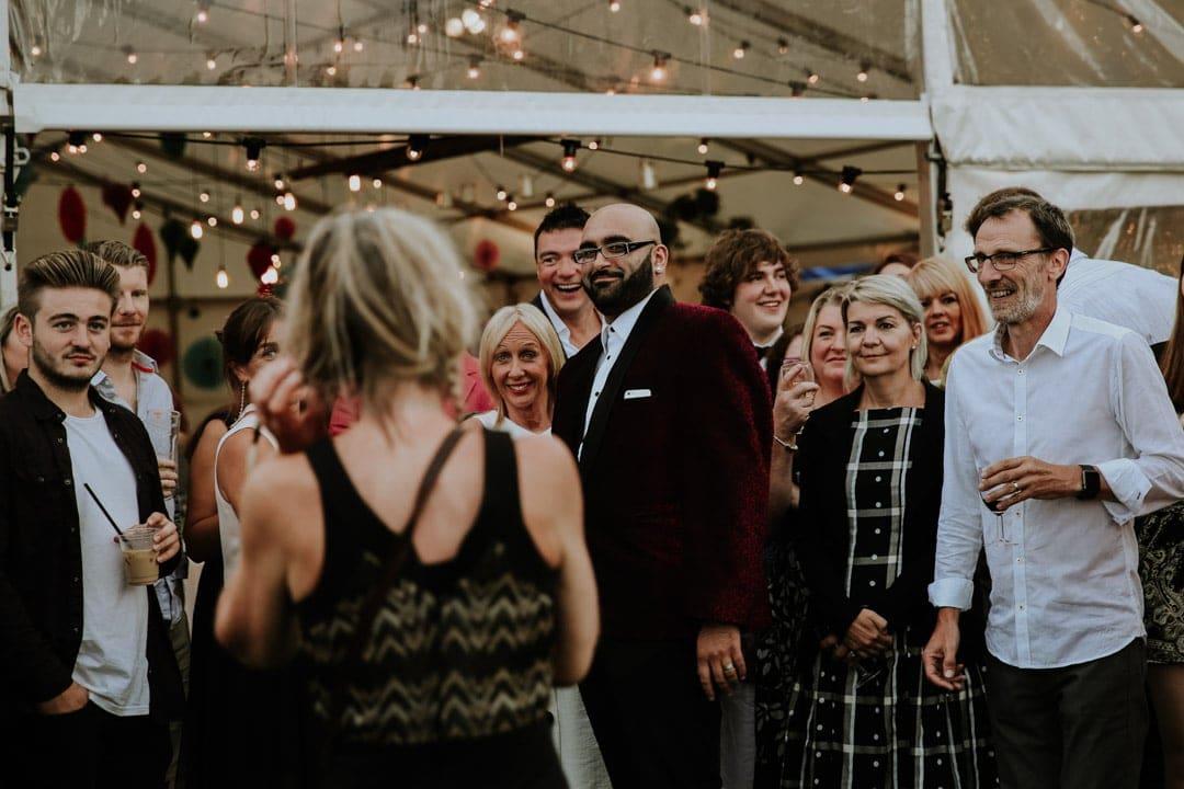 wedding-guests-having-fun-diy-leicestershire-wedding