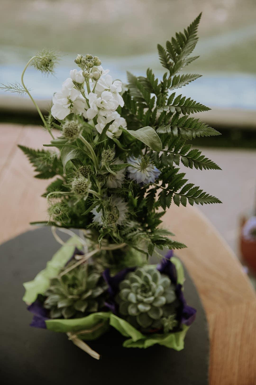 fern-succulent-thistle-decorations-diy-farm-wedding