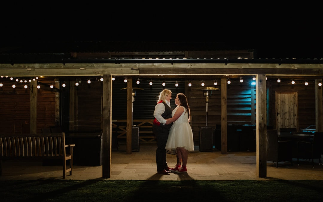 Skylark Farm wedding with Fireworks and Louis Vuitton shoes | Jess & Chloe