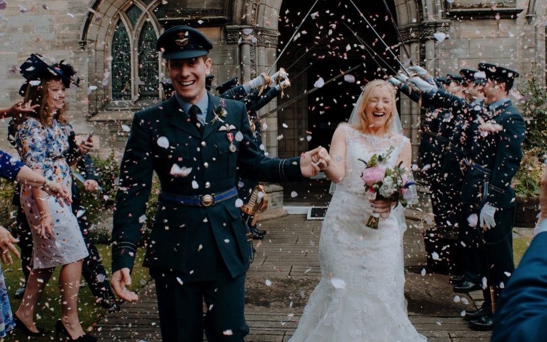 Summer RAF Wedding at The Walled Garden at Strathtyrum | Laura & Al