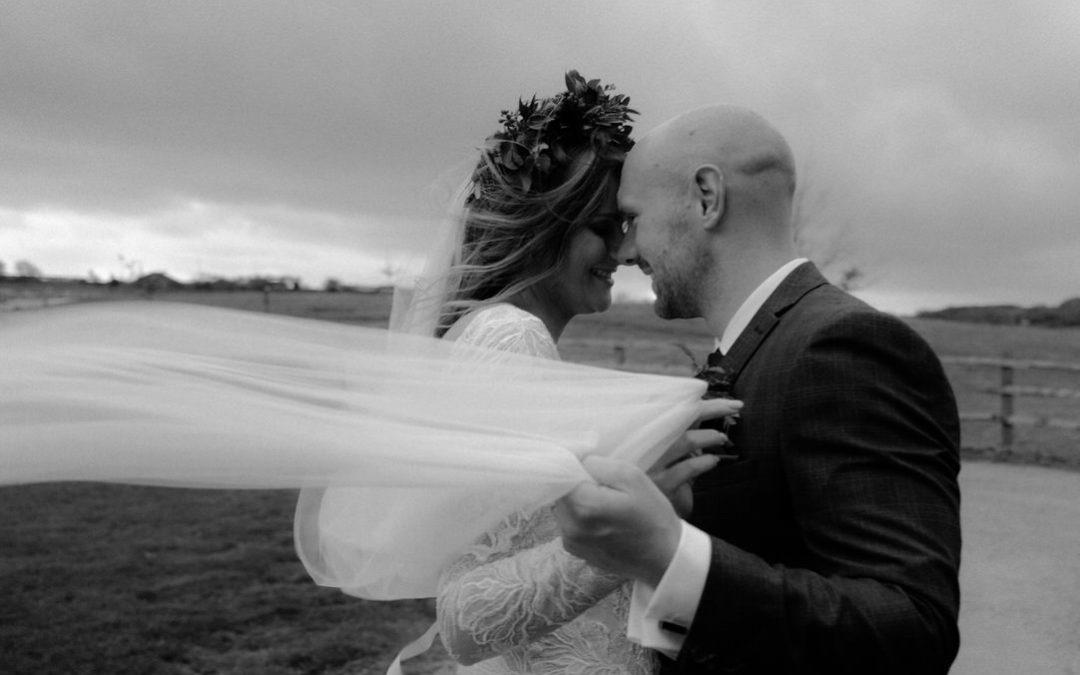 Winter Dodford Manor Wedding with beautiful Justin Alexander dress | Sarah & Ben